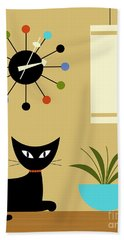 Mid Century Ball Clock 2 Hand Towel