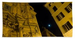 Midnight Roman Facades In Yellow  Hand Towel