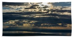 Midnight Sun Over Mount Susitna Bath Towel by Andrew Matwijec
