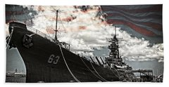 Mighty Mo U.s.s. Missouri Bath Towel