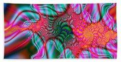 Bath Towel featuring the digital art Migraine by Elizabeth McTaggart