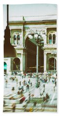 Bath Towel featuring the photograph Milan Gallery by Silvia Ganora