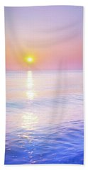 Hand Towel featuring the photograph Milky Sunset by Lilia D