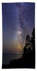 Milky Way At Acadia National Park Bath Towel