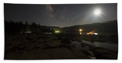 Milky-way Over Plasse's Resort - Silver Lake Hand Towel