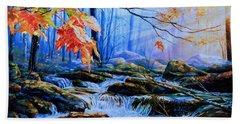 Mill Creek Autumn Sunrise Bath Towel