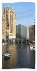 Milwaukee River Theater District 3 Bath Towel