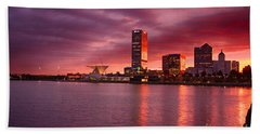 Milwaukee Sunset Hand Towel