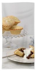 Mince Pies With Cream Hand Towel