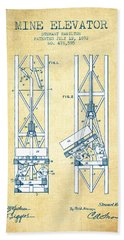Mine Elevator Patent From 1892 - Vintage Paper Hand Towel