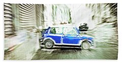 Hand Towel featuring the photograph Mini Car by Tom Gowanlock