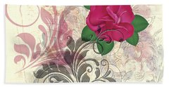 Mini Rose Flourish Bath Towel