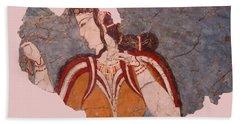 Minoan Wall Painting Bath Towel by Ellen Henneke