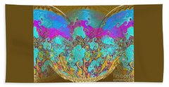 Hand Towel featuring the digital art Miracles. Holiday Collection by Oksana Semenchenko