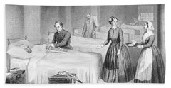 Miss Nightingale In The Hospital Hand Towel