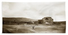 Mission San Juan Capistrano California Circa 1882 By C. E. Watkins Bath Towel by California Views Mr Pat Hathaway Archives