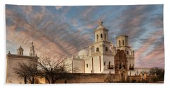Mission San Xavier Del Bac Bath Towel by Vivian Christopher
