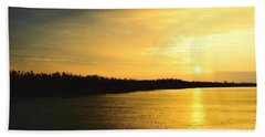 Sunrise Over The Mississippi River Post Hurricane Katrina Chalmette Louisiana Usa Hand Towel