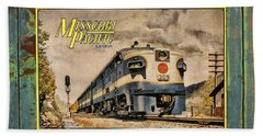 Missouri Pacific Lines Sign Engine 309 Dsc02854 Hand Towel by Greg Kluempers