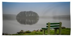 Hand Towel featuring the photograph Misty Morning On Lake Knockalough by James Truett