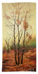 Misty Morning Hand Towel by Sorin Apostolescu