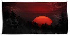 Misty Mountain Sunrise Bath Towel