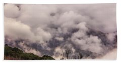 Hand Towel featuring the photograph Misty Mountains by Wallaroo Images