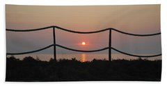 Misty Sunset 1 Hand Towel