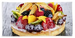 Mixed Tropical Fruit Tart Bath Towel