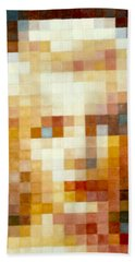 Bath Towel featuring the painting Marylin by Henryk Gorecki