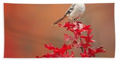 Mockingbird Autumn Square Hand Towel by Bill Wakeley