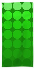Mod Pop  Circles Green Tones Hand Towel
