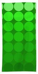Mod Pop  Circles Green Tones Bath Towel
