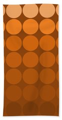 Mod Pop Mid- Century Orange Brown Hand Towel