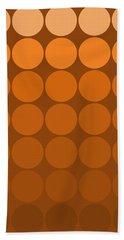 Mod Pop Mid- Century Orange Brown Bath Towel