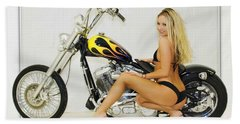 Models And Motorcycles_l Hand Towel