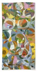 modern abstract art - Garden Variety Bath Towel