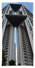 Bath Towel featuring the photograph Modern Skyscraper Apartment Building Singapore by Imran Ahmed