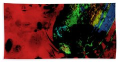 Bath Towel featuring the mixed media Modern Squid by Ally  White