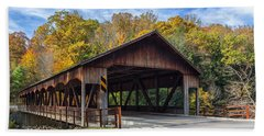 Bath Towel featuring the photograph Mohican Covered Bridge by Dale Kincaid