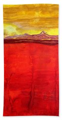 Mojave Dawn Original Painting Hand Towel