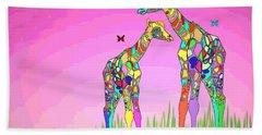 Mom And Baby Giraffe Unconditional Love Bath Towel