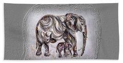 Mom Elephant Hand Towel