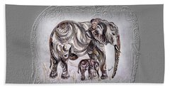 Mom Elephant Bath Towel by Harsh Malik