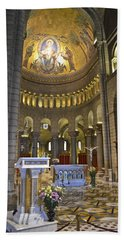 Bath Towel featuring the photograph Monaco Cathedral by Allen Sheffield