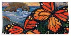 Monarch Butterflies At Natural Bridges Bath Towel