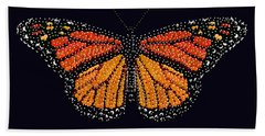 Monarch Butterfly Bedazzled Bath Towel