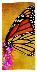 Monarch Butterfly Color Splash Sunset Bath Towel