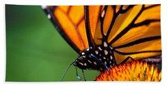 Monarch Butterfly Headshot Bath Towel