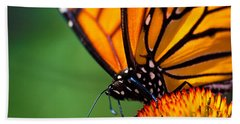 Monarch Butterfly Headshot Bath Towel